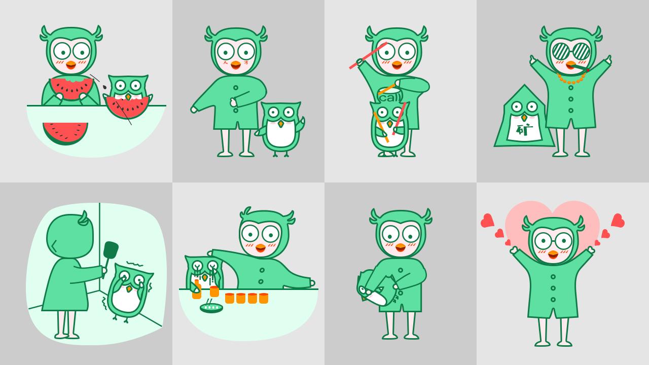 码小力和他的宠物码小开表情包酷萌面世